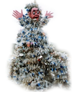 Garbage Monster made of plastic bottles